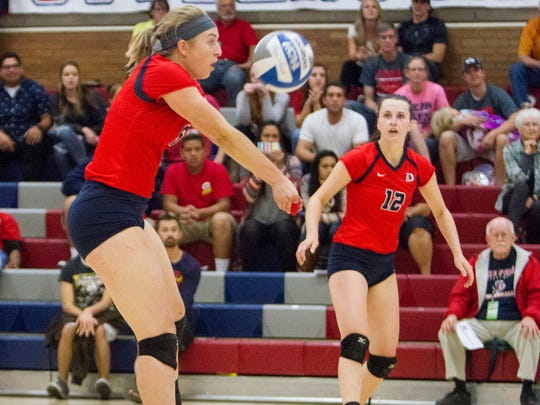 Dixie State volleyball defeats Point Loma 3-0 Saturday, Nov. 7, 2015.