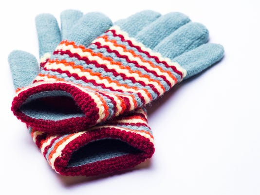 knitted gloves