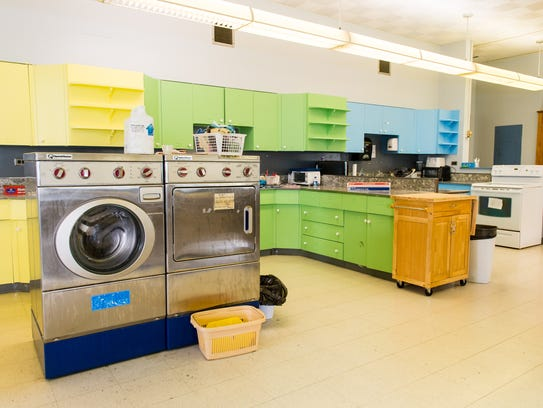 A look at the kitchen for life training in a mock apartment