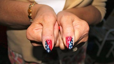 """Patriotic fingernails sound even better on a blackboard during the """"other"""" party's convention."""