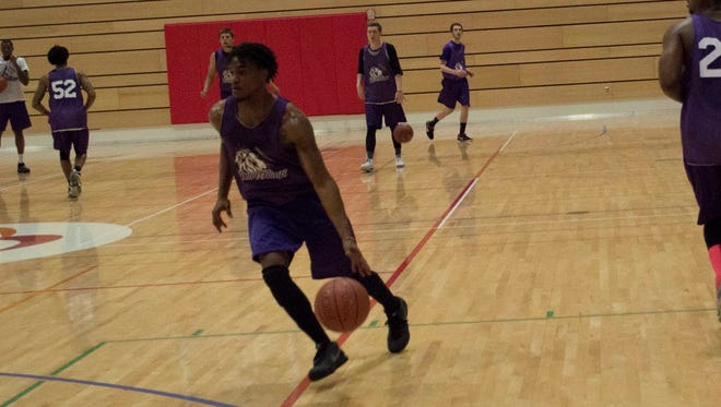 Rashad Carrington practices with the Cedar Valley Court Kings in this 2016 photo.