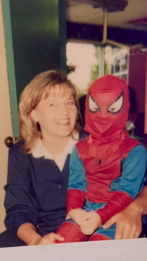 Dr. Julie with Sawyer in 2001