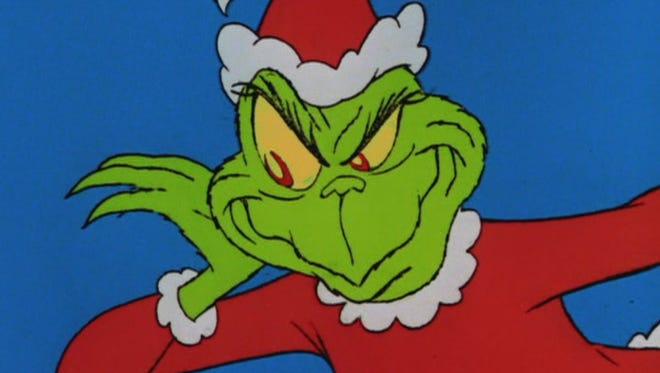 "A still frame from 1966 TV special, ""How the Grinch Stole Christmas."""