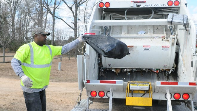 Lamar County officials are asking residents not to put large items out for  trash pickup.