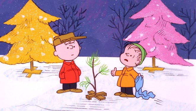 "Charlie Brown and Linus appear in a scene from ""A Charlie Brown Christmas,"" which first aired in 1965."