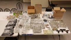 Marijuana-laced butter and gummy bears were seized along with more drugs, cash and guns after police raided a north-side home Tuesday, May 23, 2017.