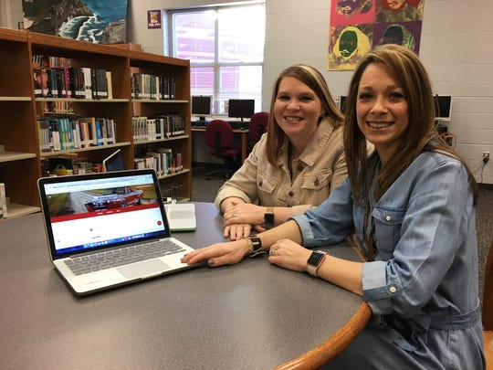 Classroom technology coaches Jennifer Klinger and Cassie Sanders demonstrate how easy it is for teachers to use Google Classroom.