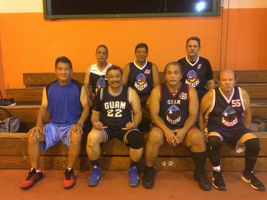 GMBA will be sending four men's teams to participate in the World Masters Games (WMG) from April 21 to 30 in New Zealand. Pictured are two of the teams, representing the 60-65 age groups. Pictured from left, front row: Steve Guerrero, Greg Tyquiengco, Felipe Candaso, Larry Quinata. Pictured from left, back row: Bob Balajadia, Bill Naputi and Bruce Williams. Not in photo: Andrew Eusebio, Rich Untalan. Ed Calvo and Craig Stroing.