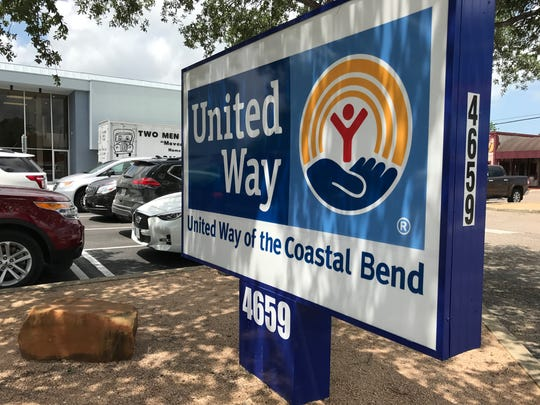 This sign is placed outside of the new office for the United Way of the Coastal Bend, at 4659 Everhart Road.