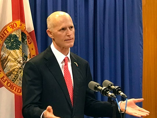 Florida Gov. Rick Scott speaks in Tallahassee on April