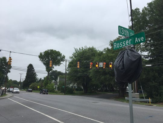 The intersection of Rosser Avenue, 13th Street and