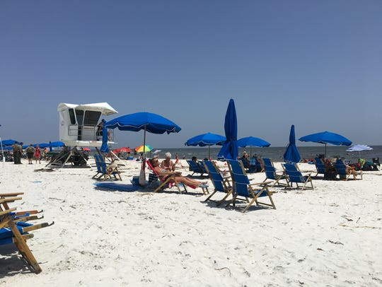 The view of the beach on Ship Island, part of the Gulf