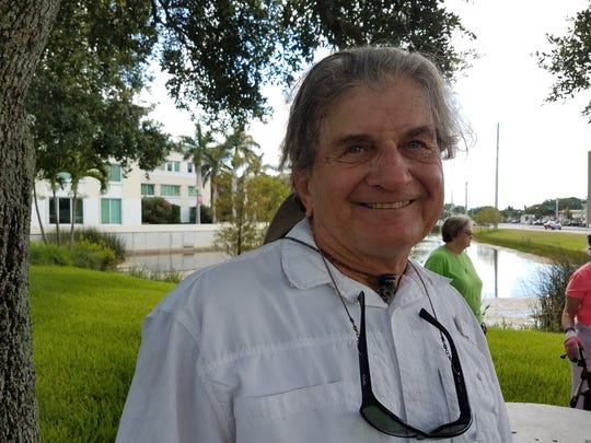 Richard Silvestri of Fort Pierce attended a rally outside