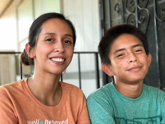 Malachi Duran (right) and his mother, Anya Duran-Garcia,