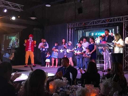 Children living at the Ronald McDonald House were inducted into the charity's 2017 draft during the Casa de Amor Gala at the Ortiz Center on Thursday, Sept. 7, 2017.