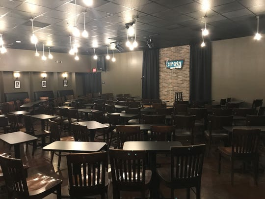 The 120-seat Stir Crazy Comedy Club is on the second