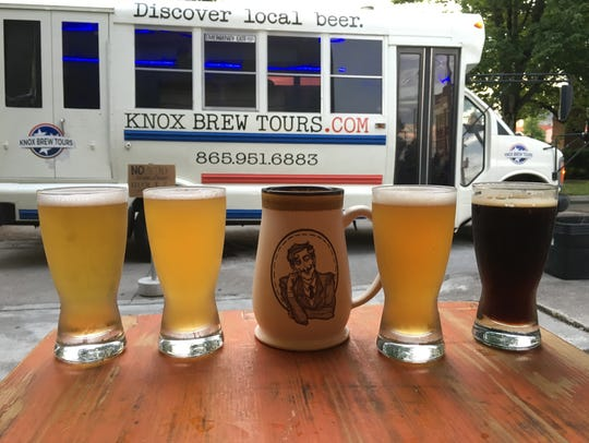 The Knox Brew Tours bus makes a stop at Crafty Bastard