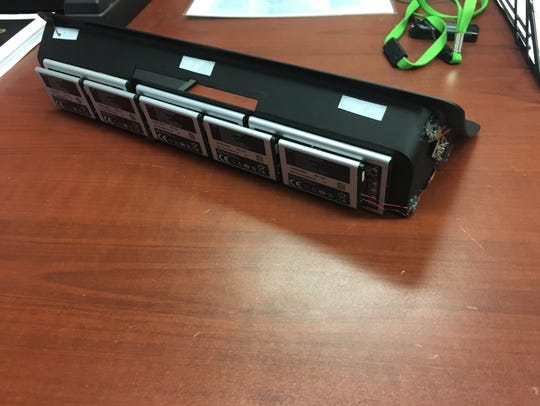 Part of one of the ATM skimming devices found in Marion