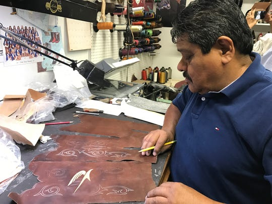 Fidel designs every custom boot made by Lucchese. He's