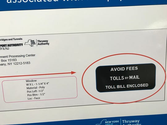 New envelopes for cashless toll bills were unveiled