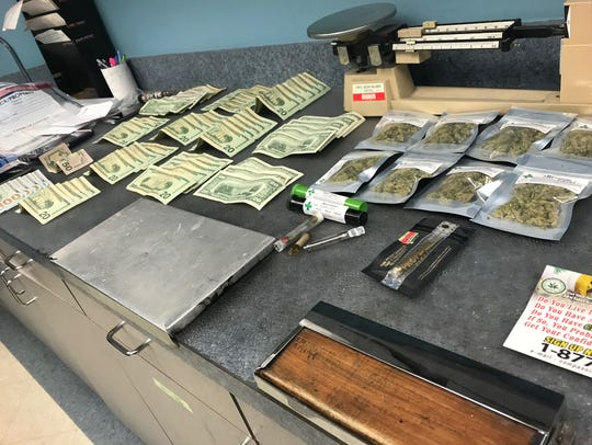 Bloomfield police recovered $1,437 in cash and marijuana