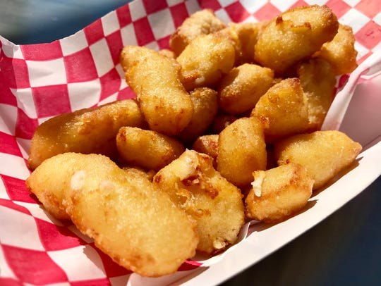 Cheese curds served at Hammond Stadium, the spring