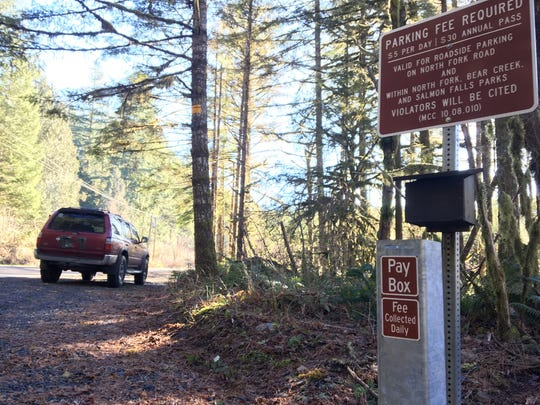 Fee boxes in the Little North Santiam Canyon were broken
