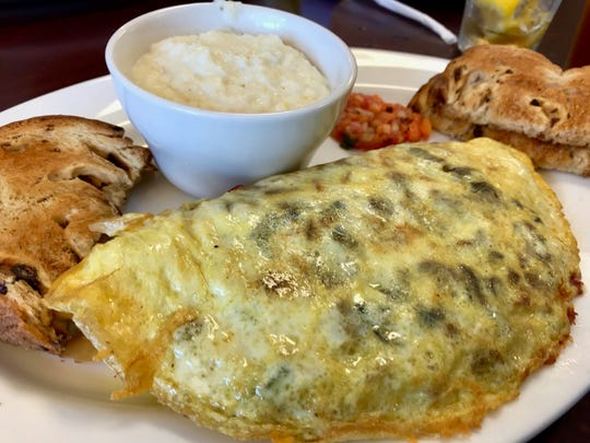 The house omelet that features various meats at the House of Omelets in North Naples.