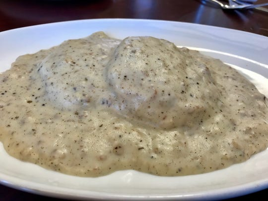 Biscuit and gravy served at House of Omelets in North