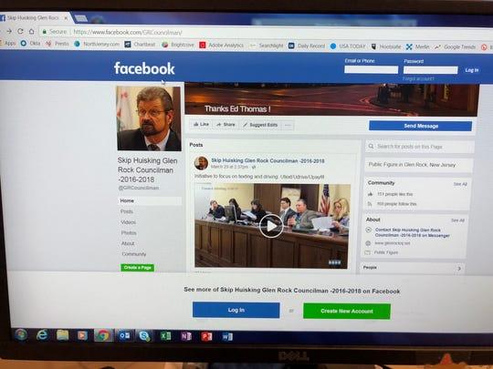 A photo of Glen Rock Councilman Skip Huisking's Facebook page.