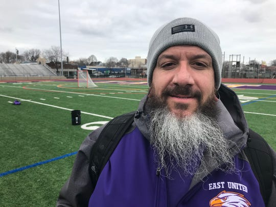 East United co-varsity lacrosse coach Jim Tillotson