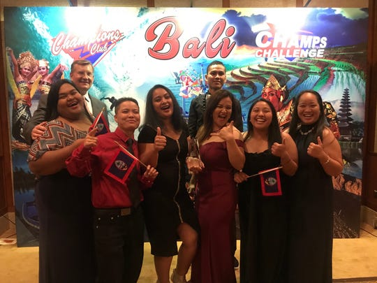 KFC Guam won an award at the KFC Asia Pacific Competition held in Bali April 17-18, beating 12 countries with KFCs. The competition was for fastest speed, hospitality, accuracy, product quality and customer service. KFC Guam won the Most Customers Served award. The team was led by Jennifer Fuppul floor manager (left) and team coach Takakwita James (third from left). Members of the Team are: Jackie Camacho supply, Norris Kosashi – cook, Claris Dionisio and Nicole Ballesteros cashiers, Antoinette Sanchez alternate, along with KFC Guam managing director Lars Peterson.