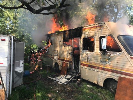 Dallas mobile home fire