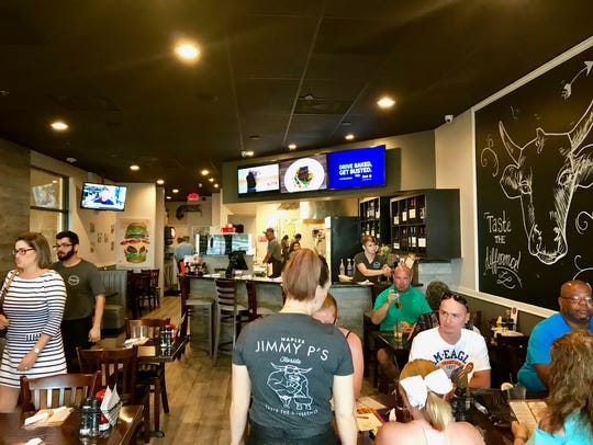 A lunch crowd fills Jimmy P's in North Naples on a