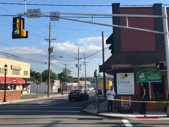 The Cinar Turkish Restaurant in Emerson was clipped by a turning truck Thursday afternoon, according to employees of the restaurant.