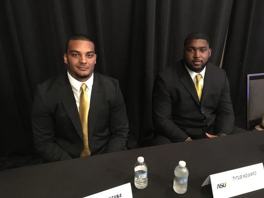Alabama State senior defensive lineman Devin Santana,