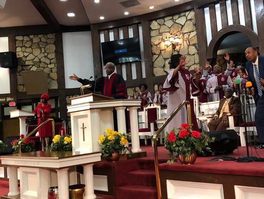 Suffragan Bishop Thomas E. Griffith leads the Zion