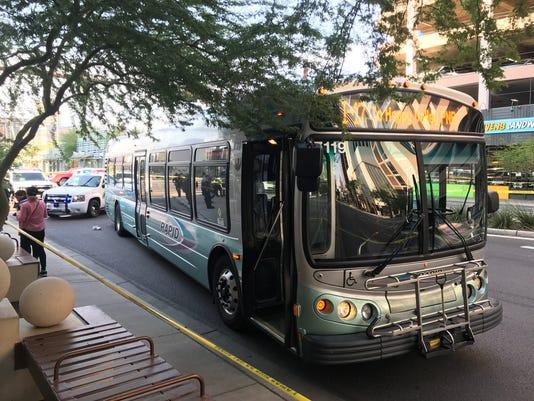 Man hit by bus in Phoenix