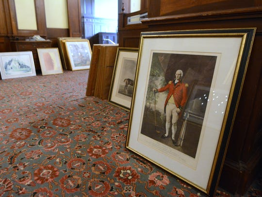 Hundreds of pieces of framed art are among the Items