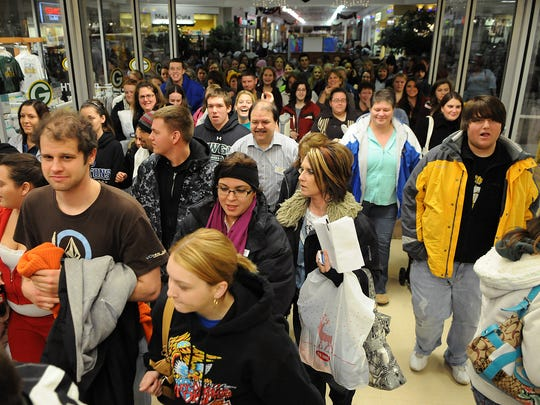 Black Friday shoppers enter Shopko at Bay Park Square mall in Ashwaubenon  on Nov. 26, 2010.