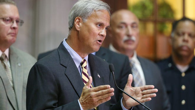 State Sen. Jim Merritt, who has talked openly about running for mayor of Indianapolis, took a step back from city politics Friday.