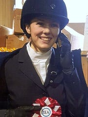Emily Belosky of Horseheads finished second in a regional equestrian competition.