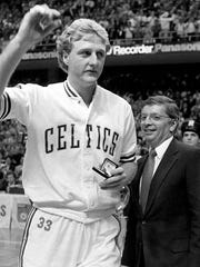 Larry Bird is known for basketball. a legendary NBA