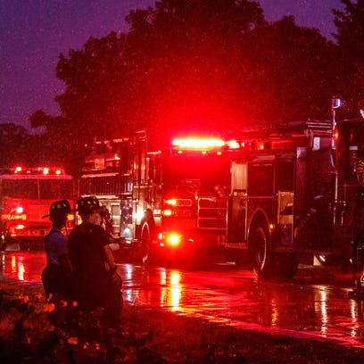 One person is dead after a house fire near North Prairie