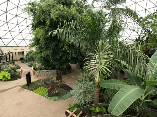 Get tropical inside the Greater Des Moines Botanical Gardens and do pick up a treasure for your home at the gift shop.