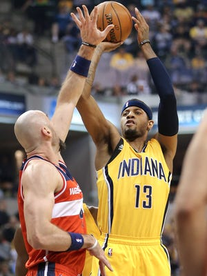 The Pacers plan to play Paul George back at his natural wing position when they play the Bulls on Tuesday.