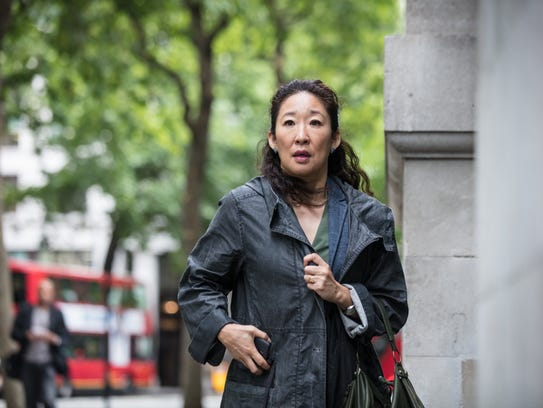 Sandra Oh as Eve in BBC America's new thriller 'Killing Eve.'