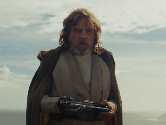 Luke Skywalker (Mark Hamill) is shown as the new jedi