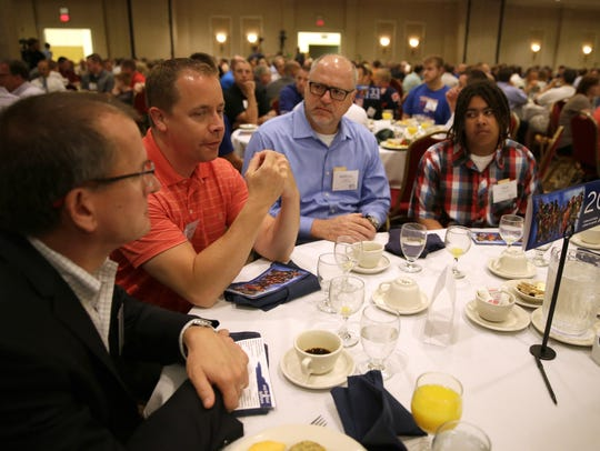 Voices of Men holds an annual breakfast gathering and