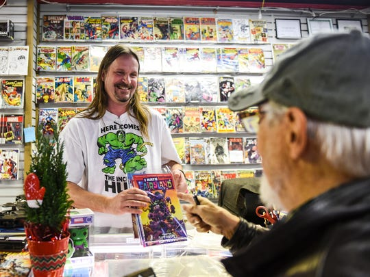 AA Comics and Cards held its grand opening on Nov. 19. The store is located in the former Marty's Music building at 610 Cumberland St.